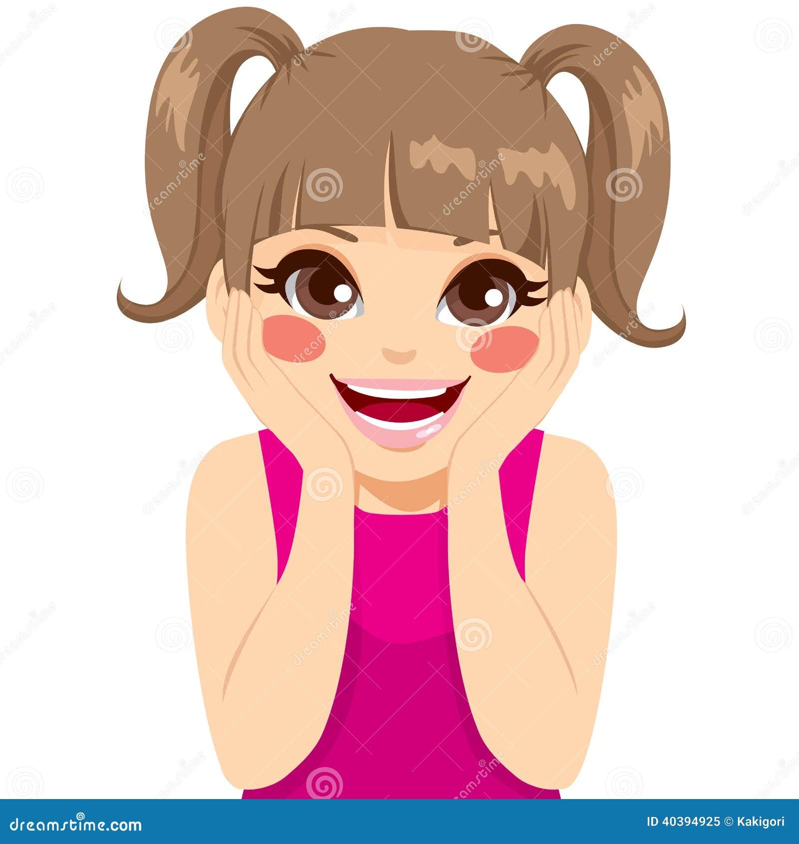 Little Girl Surprised stock vector. Illustration of ...