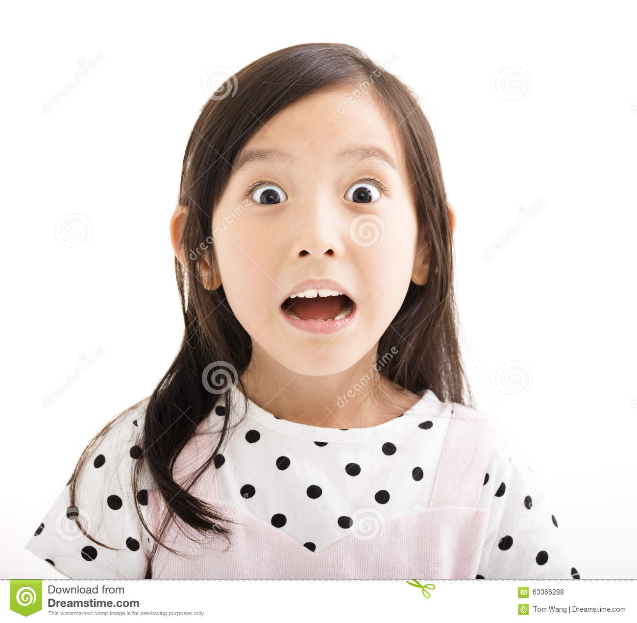 little girl with surprised face stock photo image 63366288