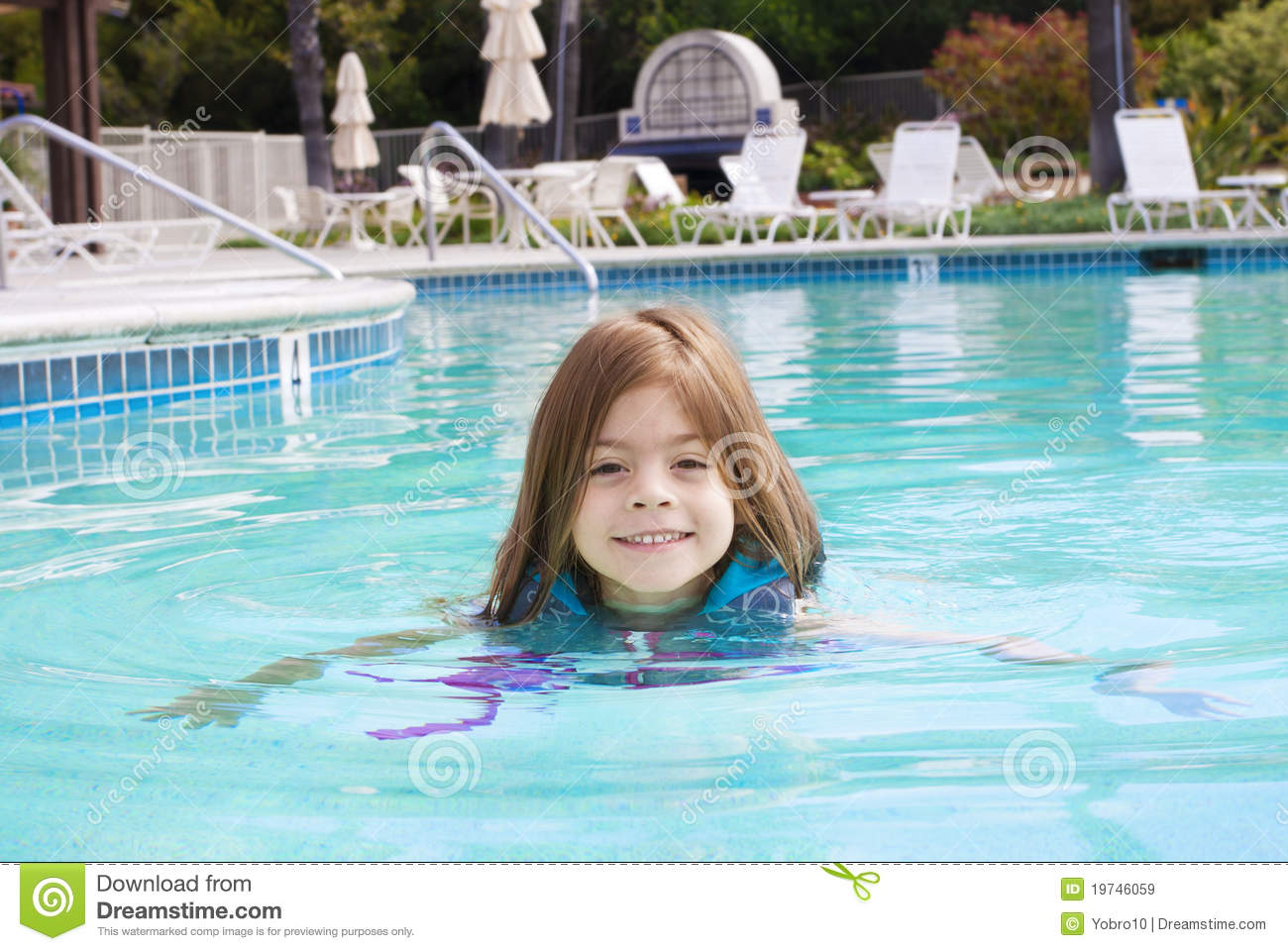 Little girl swimming in the pool stock image image 19746059 - Wetherby swimming pool swim times ...