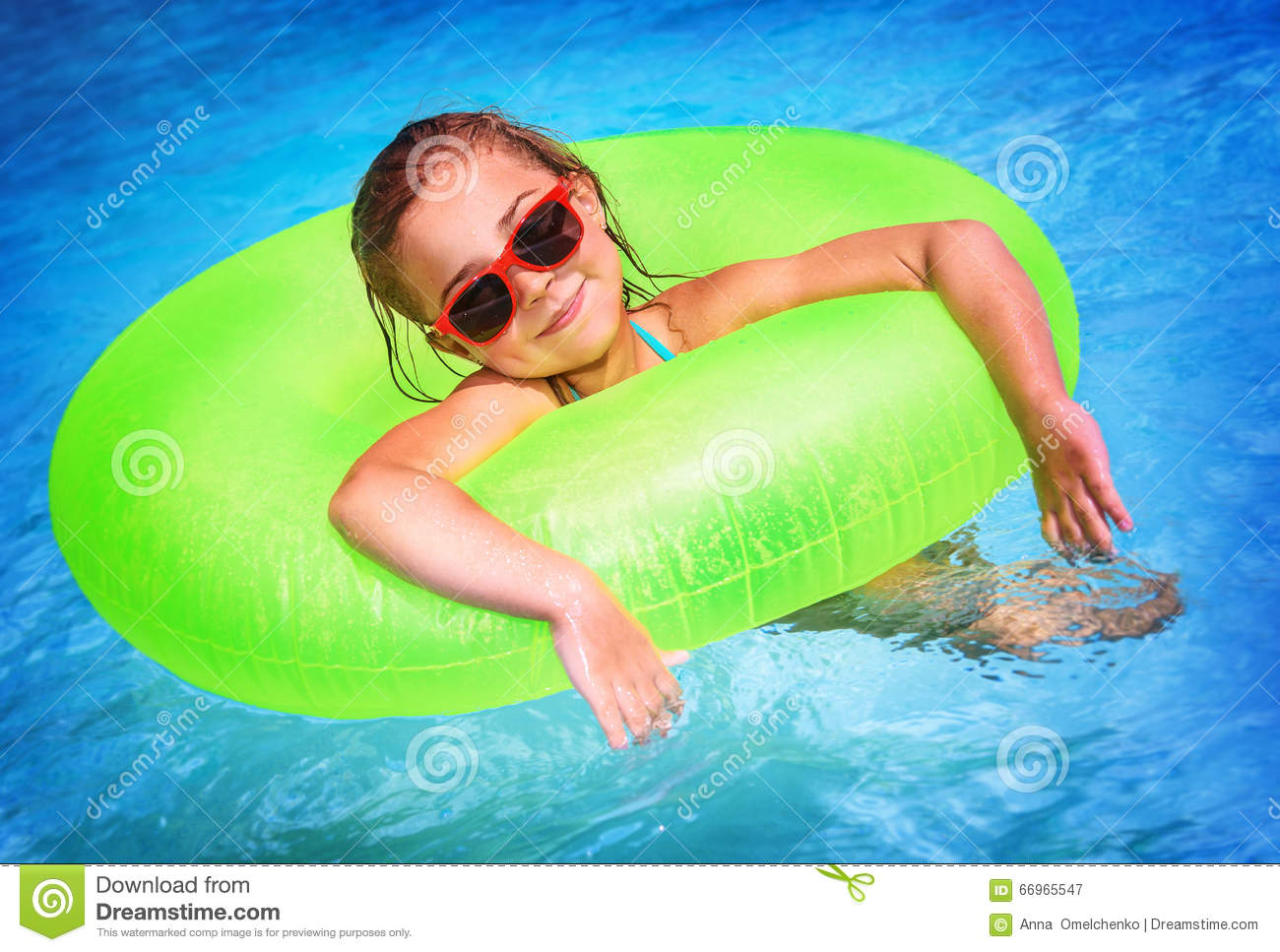 Little girl in swimming pool stock image image 66965547 for Cute pool pictures
