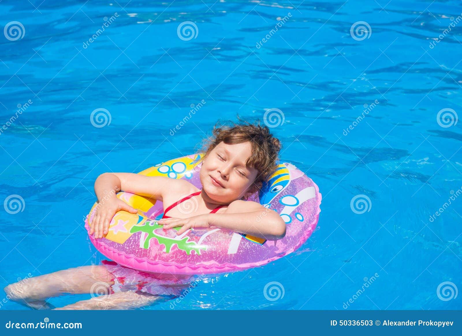 Valuable message Sweet girls swim pool