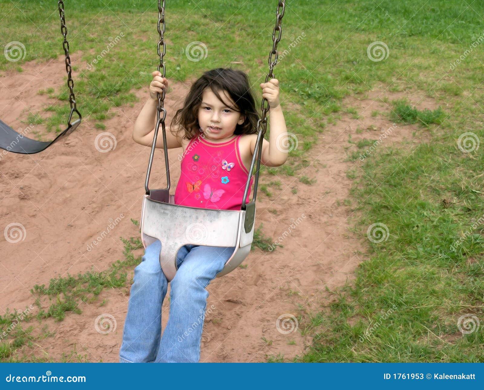 Clipart Girl On Swing