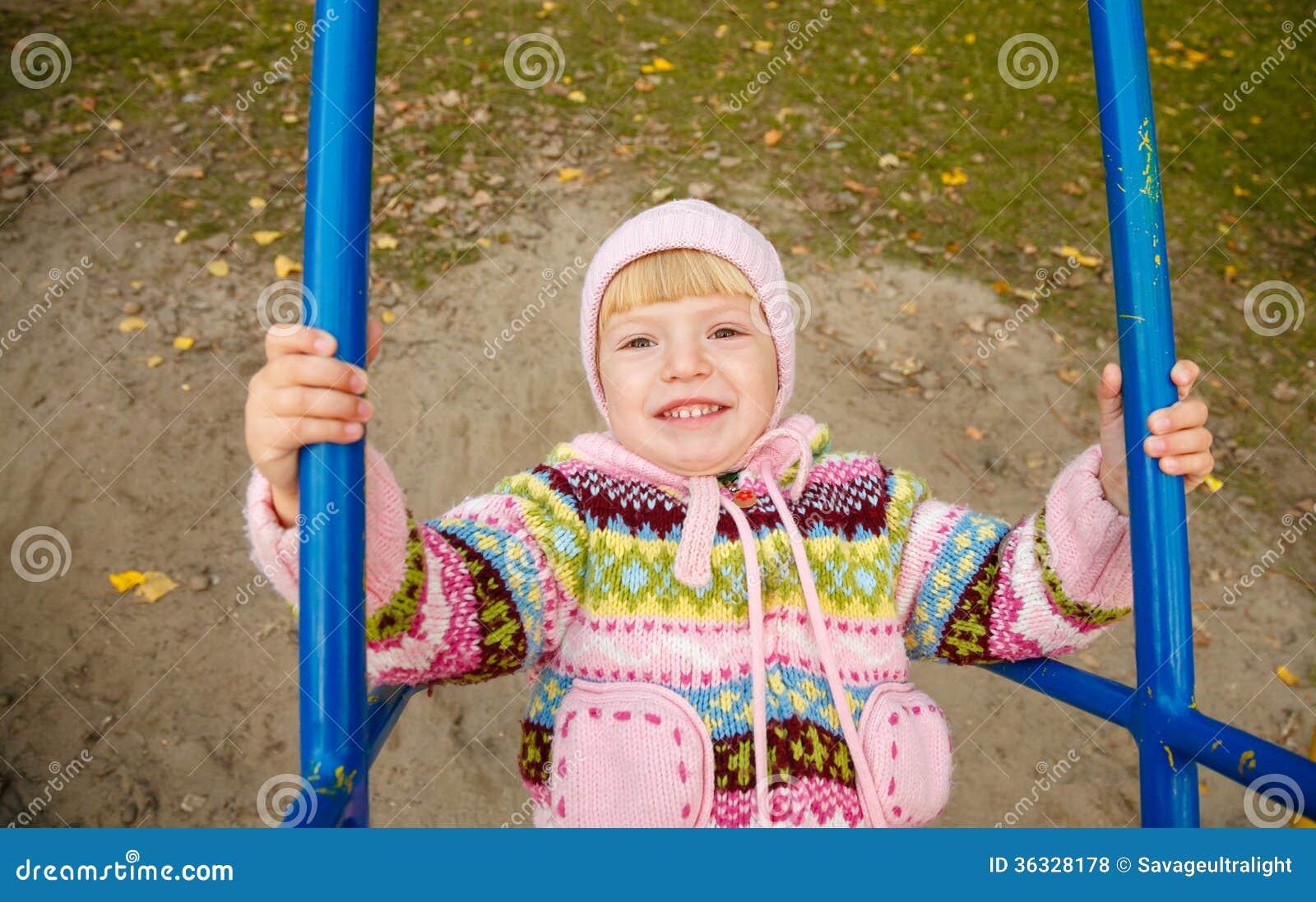 girl on swing above - photo #22
