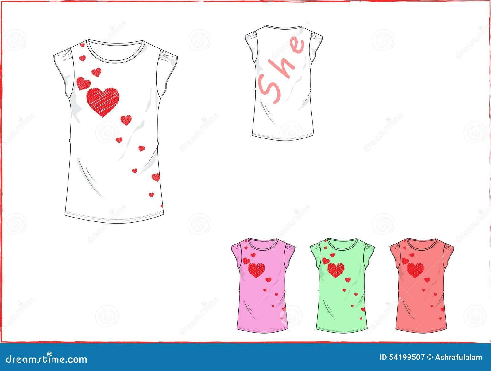 Heart design t shirt - Back Background Cap Design Front Girl Heart Lettering Little Shirt