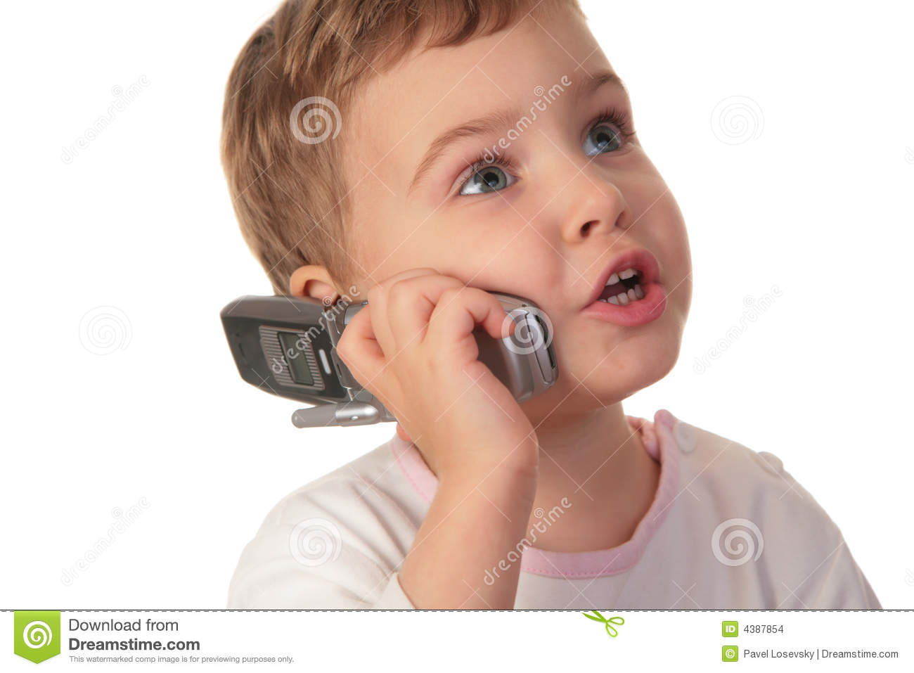Little Girl Talk On The Cell Phone Stock Photo - Image ...