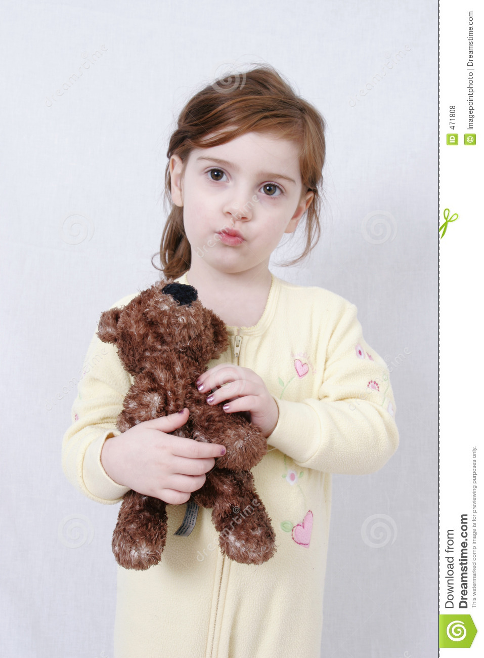 Little Girl With Teddy Bear Royalty Free Stock Photos - Image: 471808