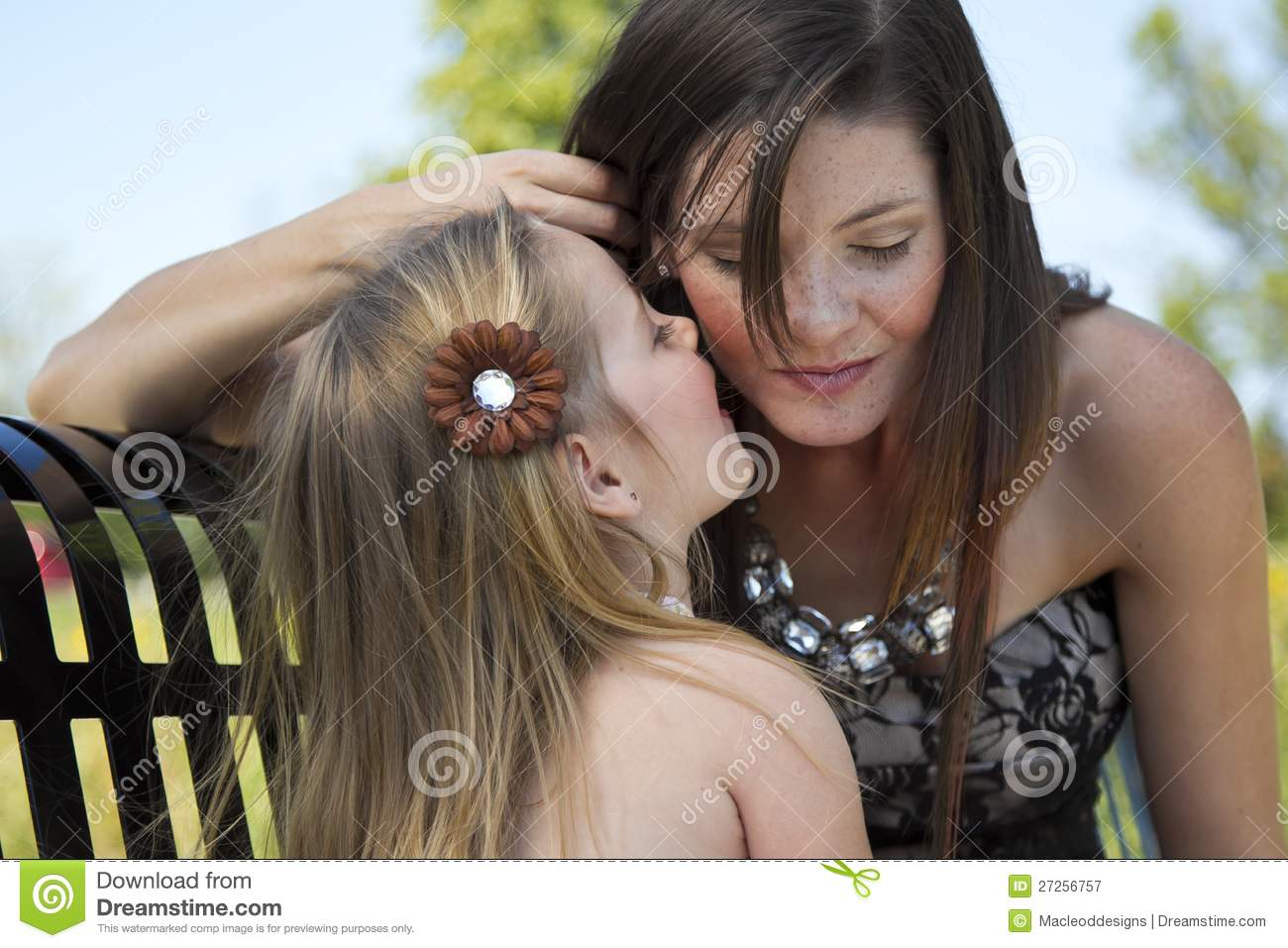 A Little Girl Tells Her Mom A Secret Royalty Free Stock graphy Image
