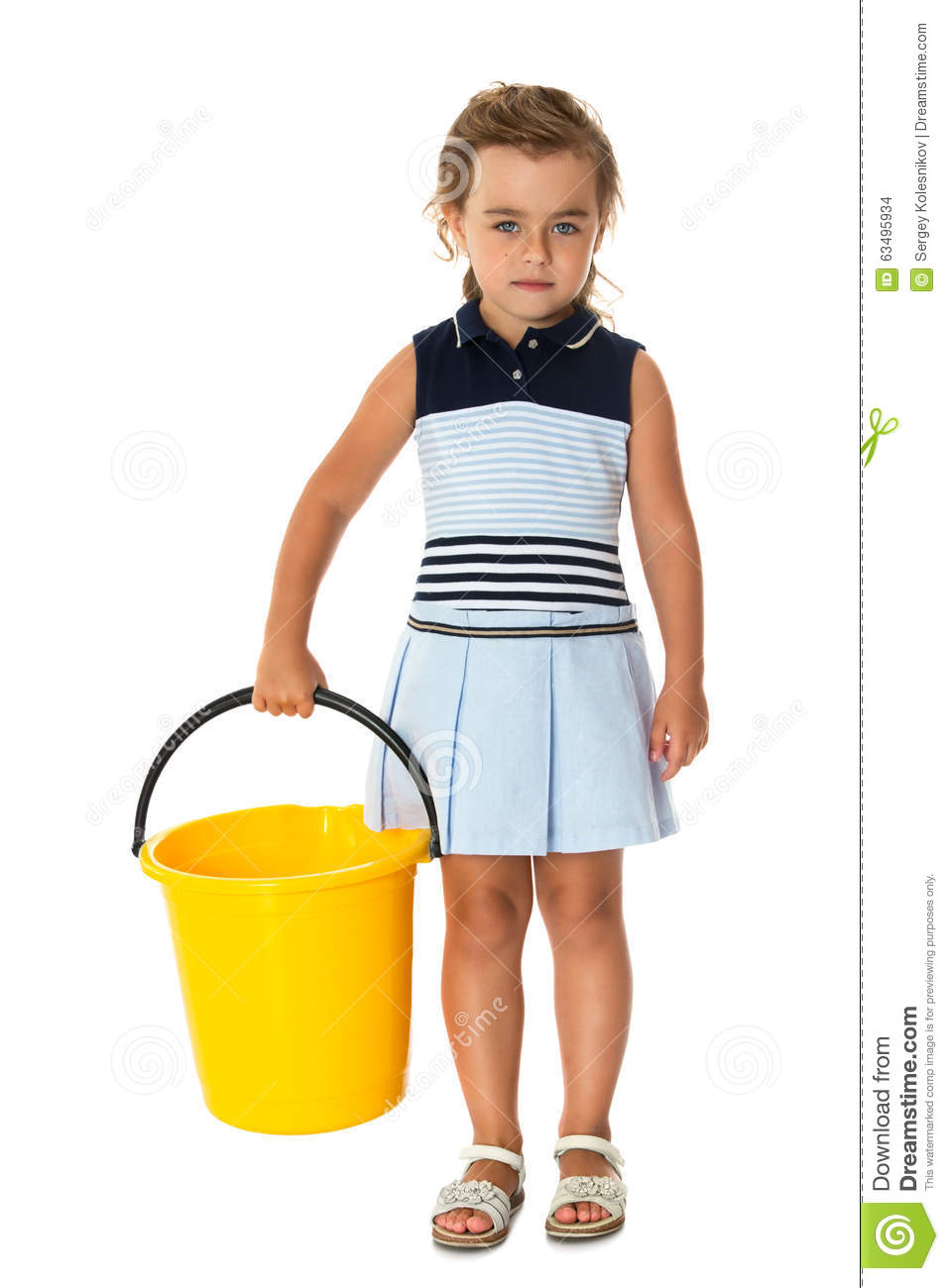 Little Girl Tidying Stock Photo Image 63495934