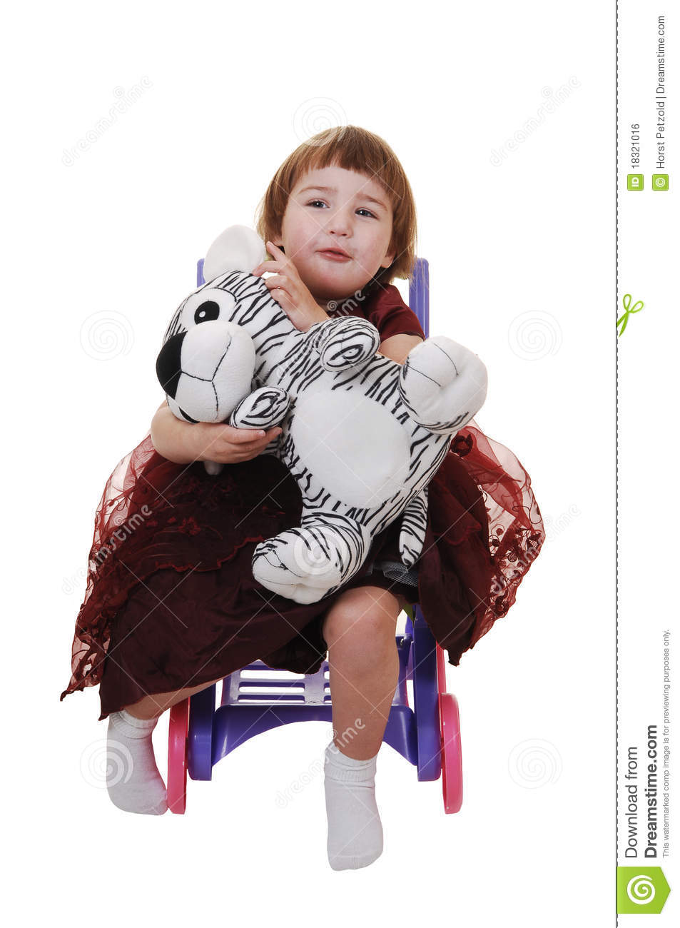 Little Girl Toys : Little girl with toy stock photo image of toddler
