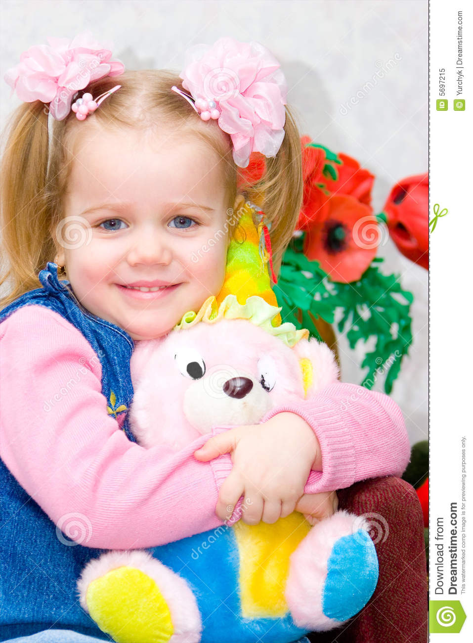Little Girl Toys : Little girl with a toy royalty free stock photo image