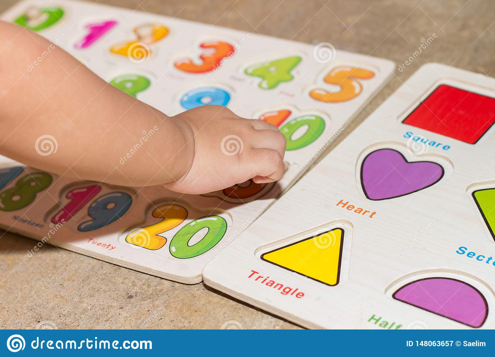 Little Girl With Toy Numbers Educational Games At Home Board Games For Children Modern Learning Girl Learning Counting Number Toy Stock Image Image Of Learning Children 148063657