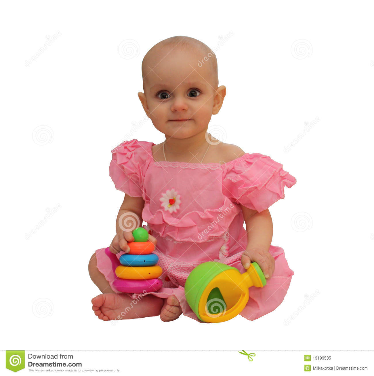 Little Girl Toys : Little girl with toys royalty free stock photo image
