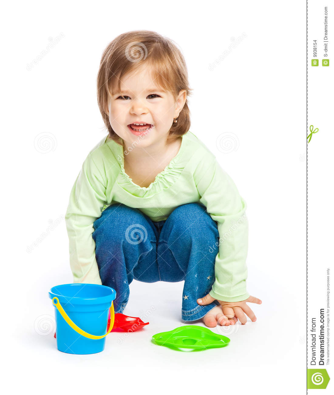 Toys For Little : Little girl with toys stock images image