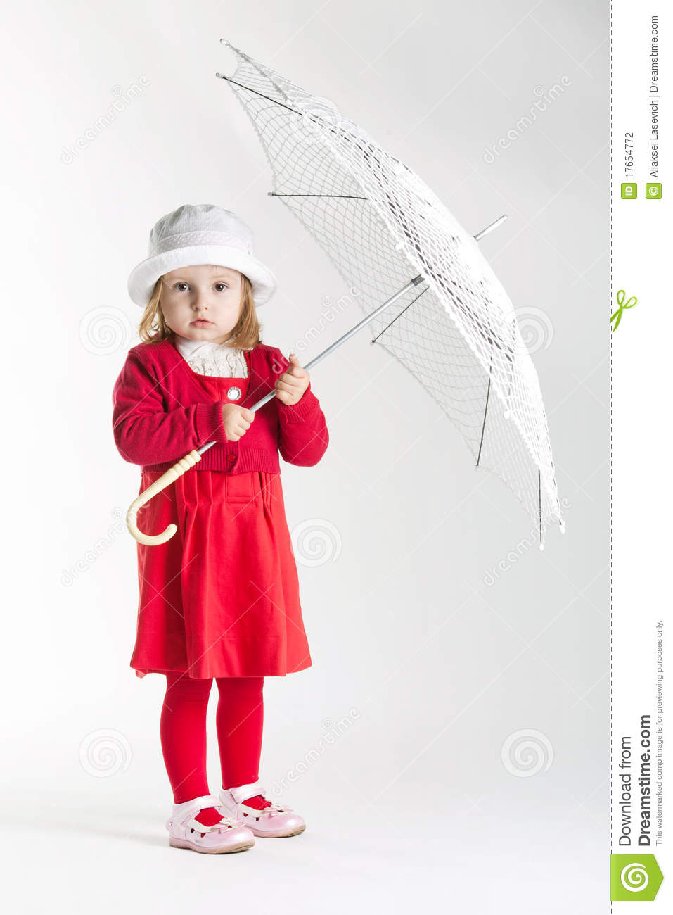 Little Girl With Umbrella Stock Photography - Image: 17654772
