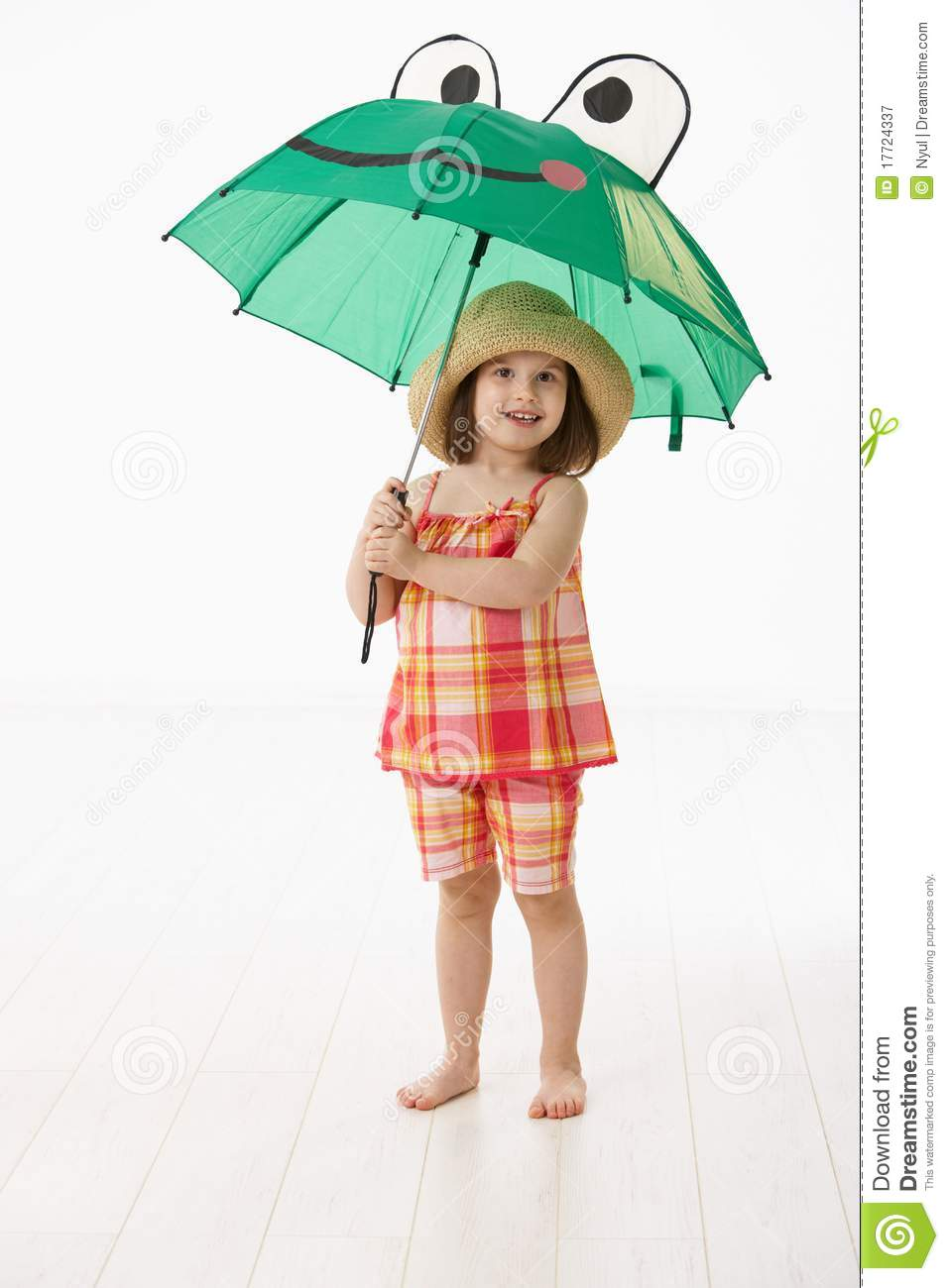 Little Girl With Umbrella Royalty Free Stock Photography