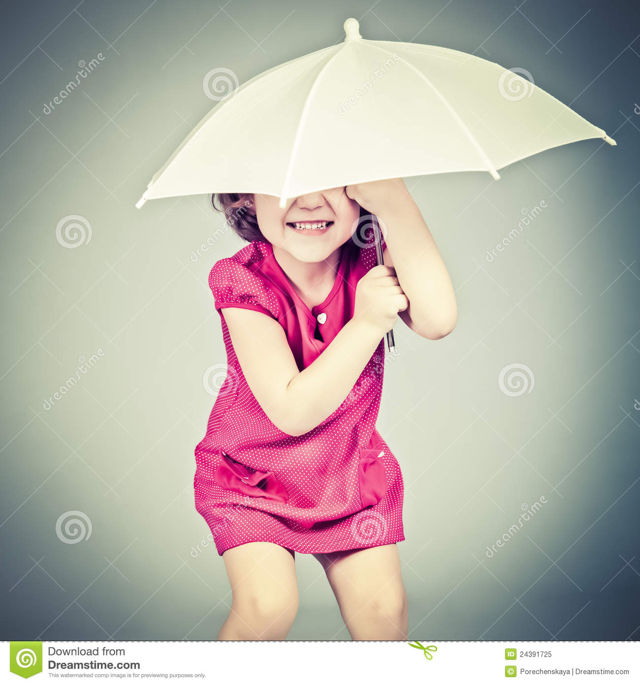 Little Girl With Umbrella Royalty Free Stock Photo - Image ...