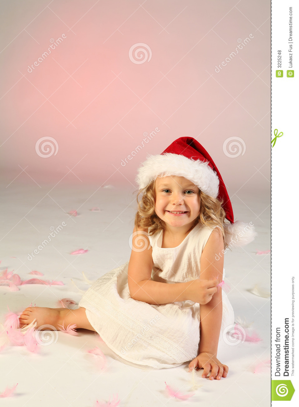 Little Girl Wearing Santa Hat Stock Photo - Image of pink 5dfe1644fa9d