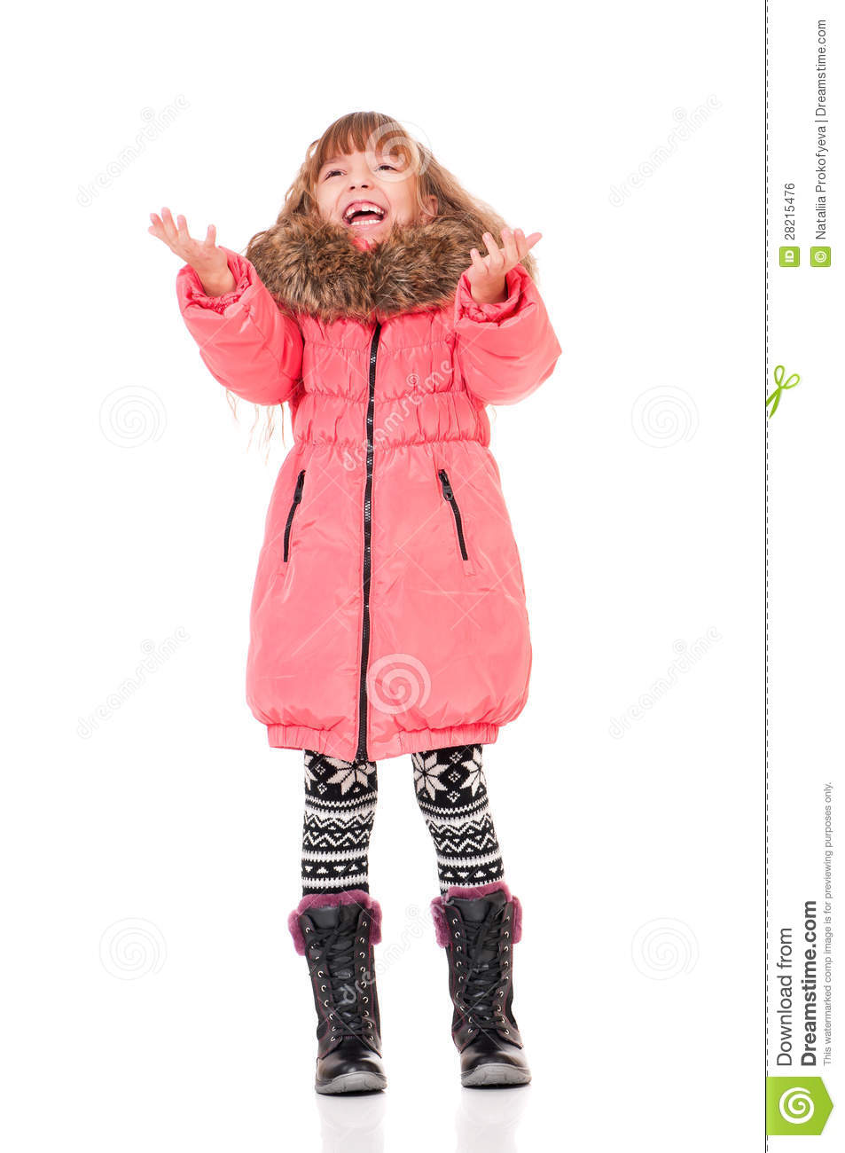 little girl in winter clothing royalty free stock image. Black Bedroom Furniture Sets. Home Design Ideas