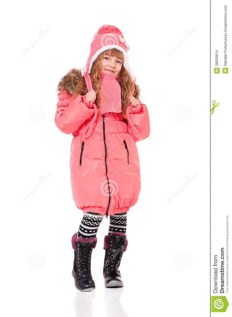 little girl in winter clothing stock images image 28930814