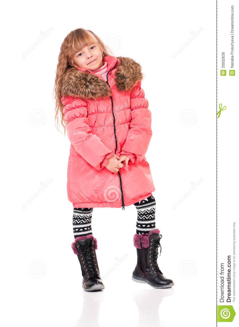 Little Girl In Winter Clothing Royalty Free Stock Images Image 33932639
