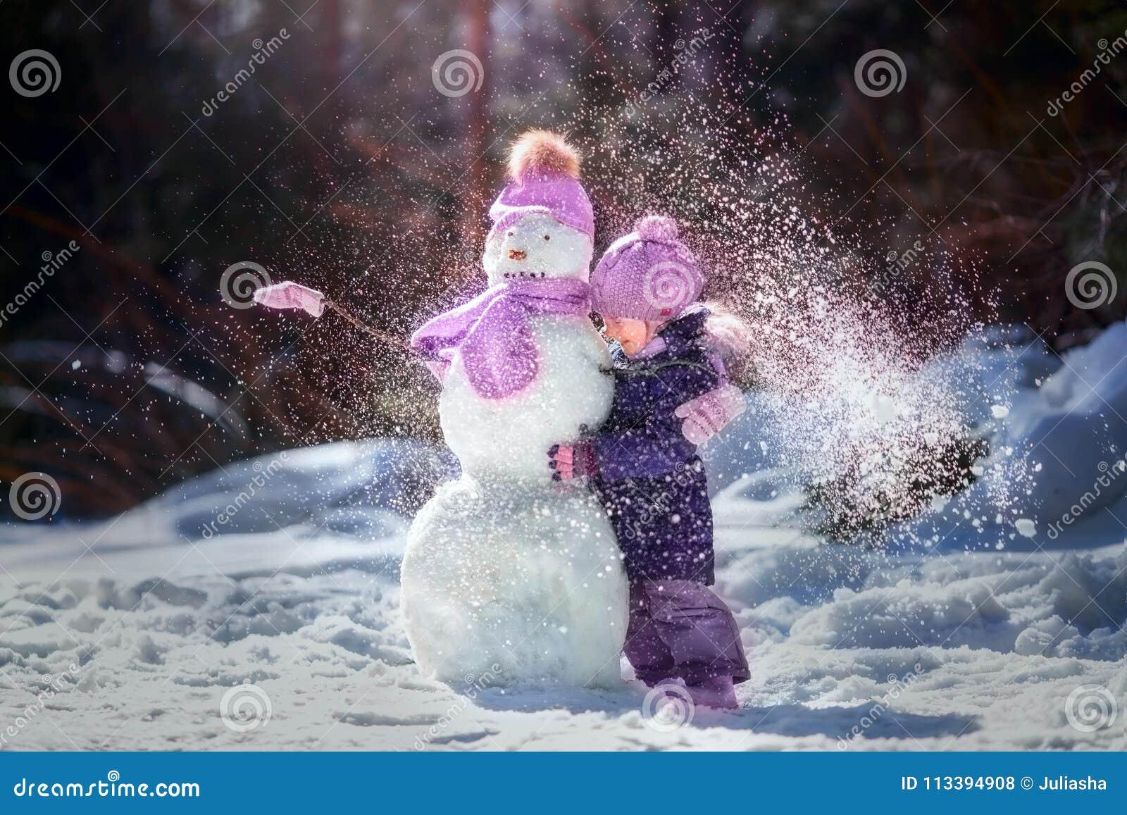 Little girl winter fun