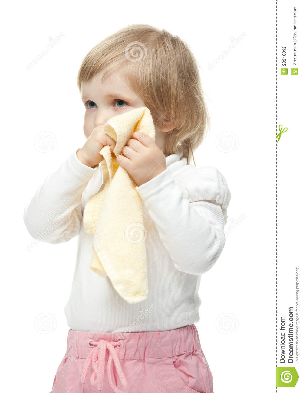 Little Girl Wiping Her Face Photography