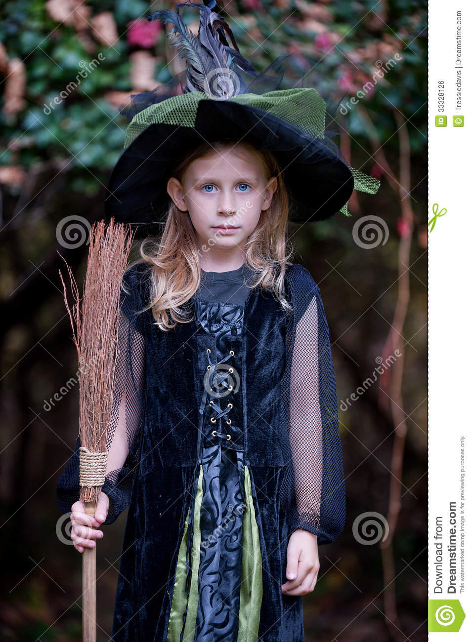 Little Girl In Witch Costume Royalty Free Stock Image - Image ...