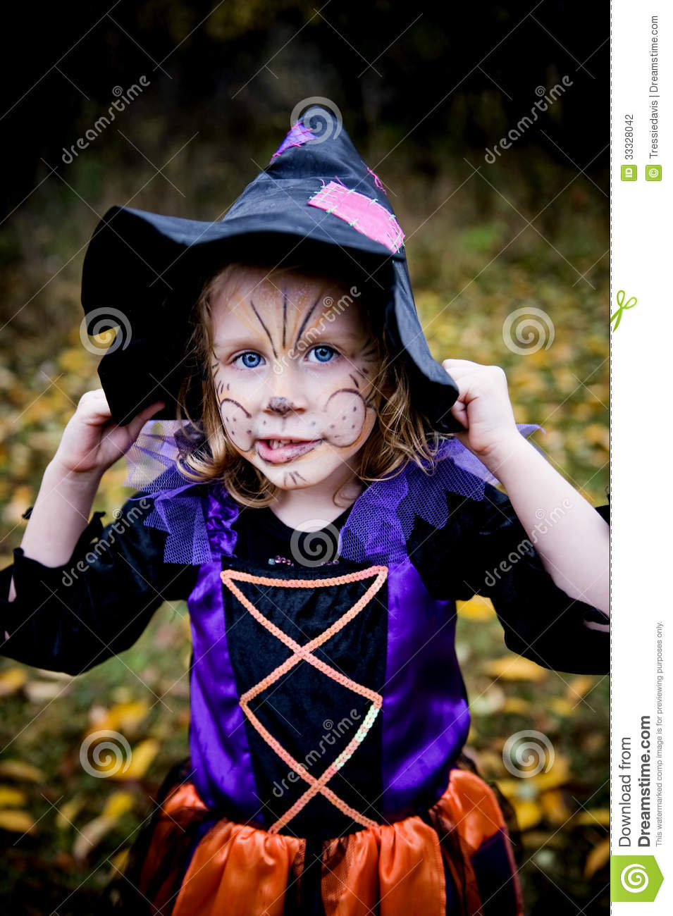 Uncategorized Little Girl Witch Face Paint little girl in witch costume stock photography image 33328042 royalty free photo download witch