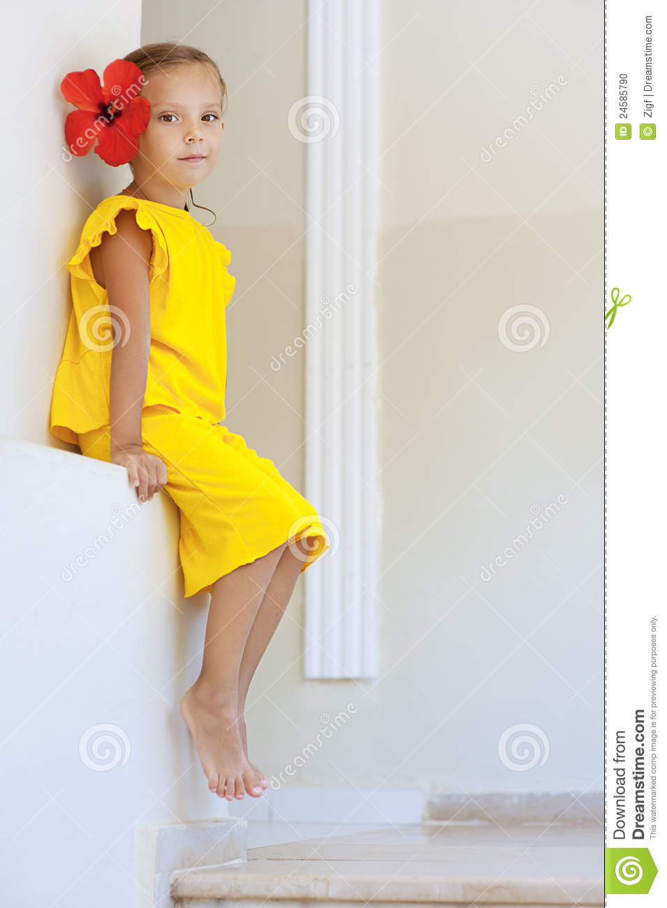 Yellow dress girl images