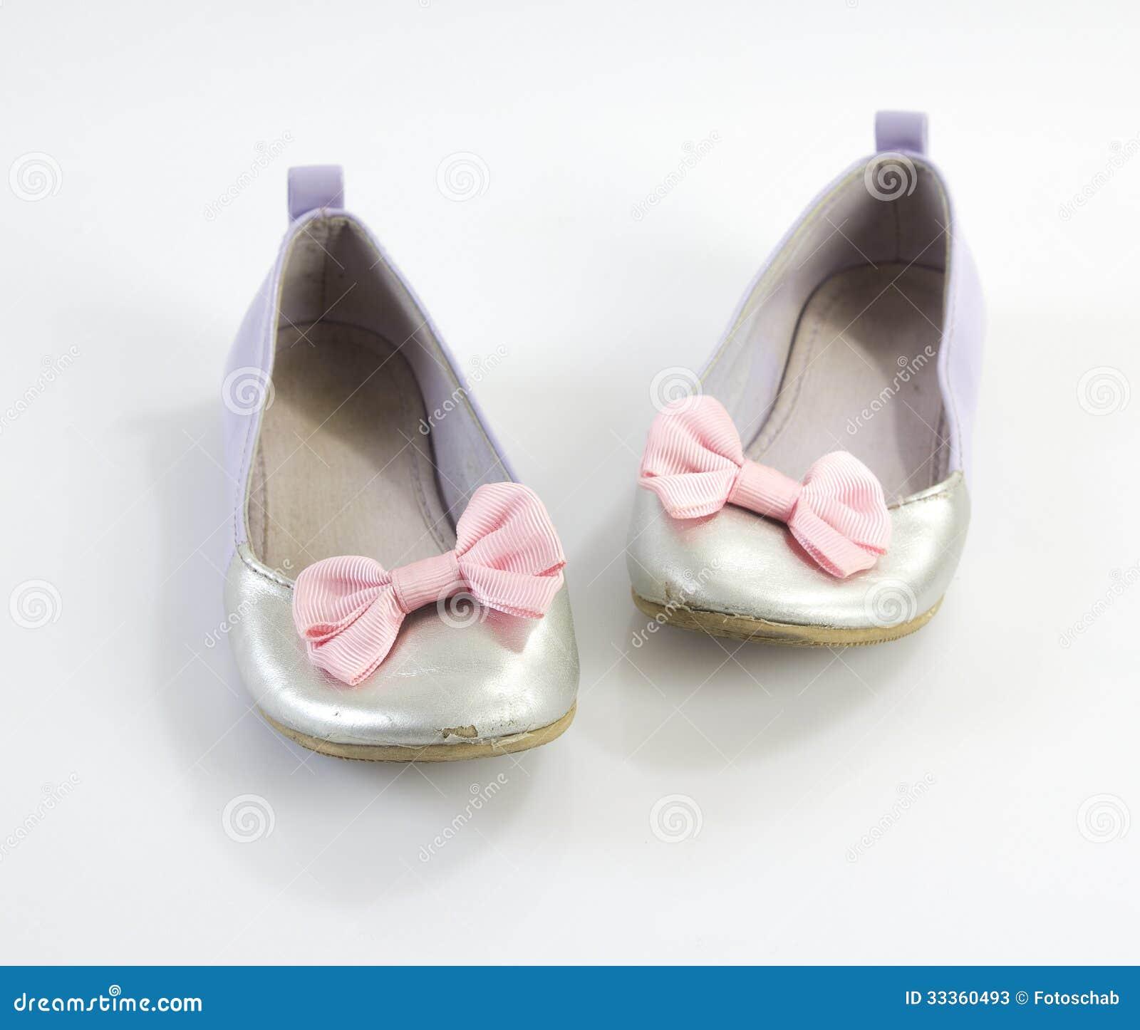 Stock Photos: Little girls shoes