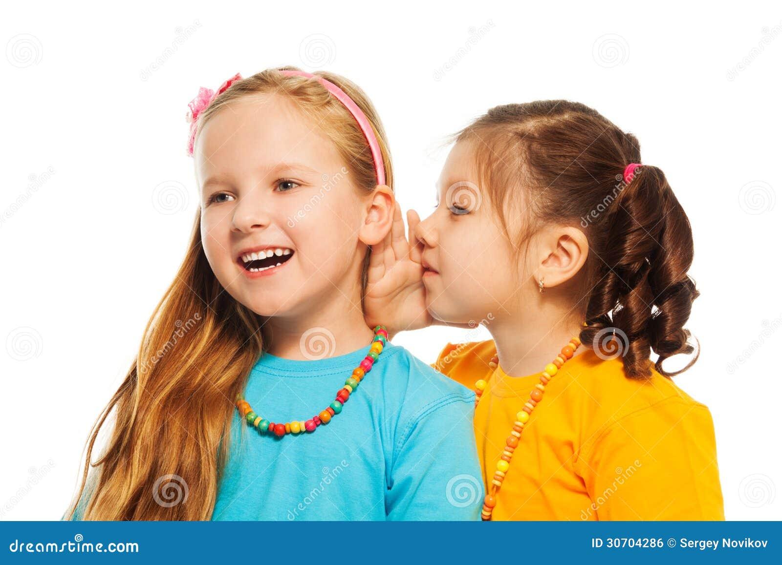 little gossip girls royalty free stock image