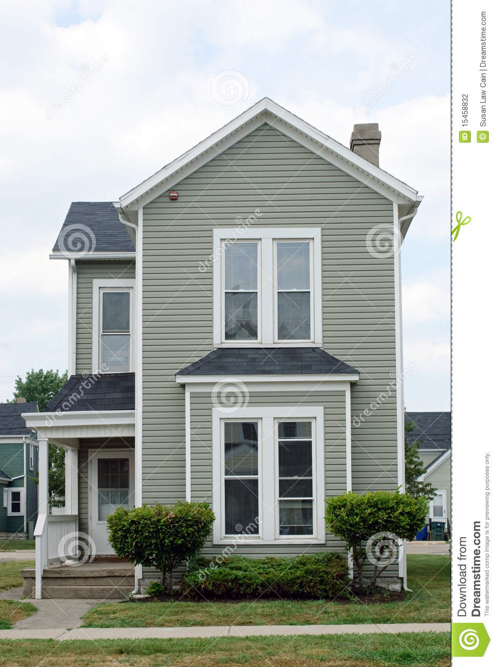 Little Gray House Stock Photography Image 15458832