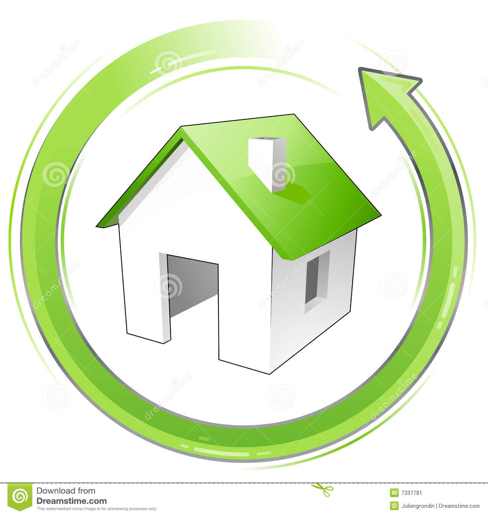 little green house stock vector illustration of arrow. Black Bedroom Furniture Sets. Home Design Ideas