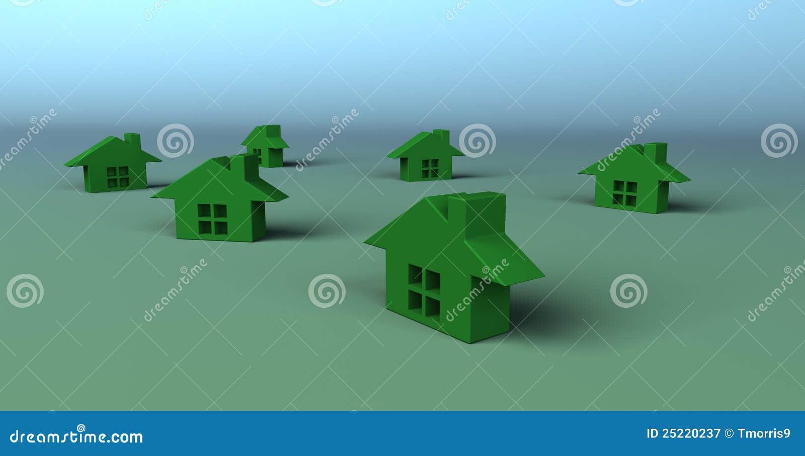 little green houses stock illustration illustration of. Black Bedroom Furniture Sets. Home Design Ideas