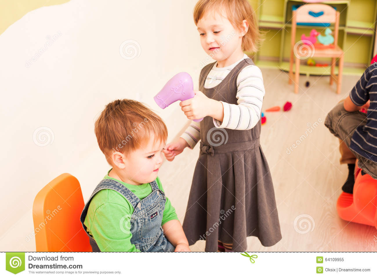 The Little Hairdresser Stock Photo Image 64109955