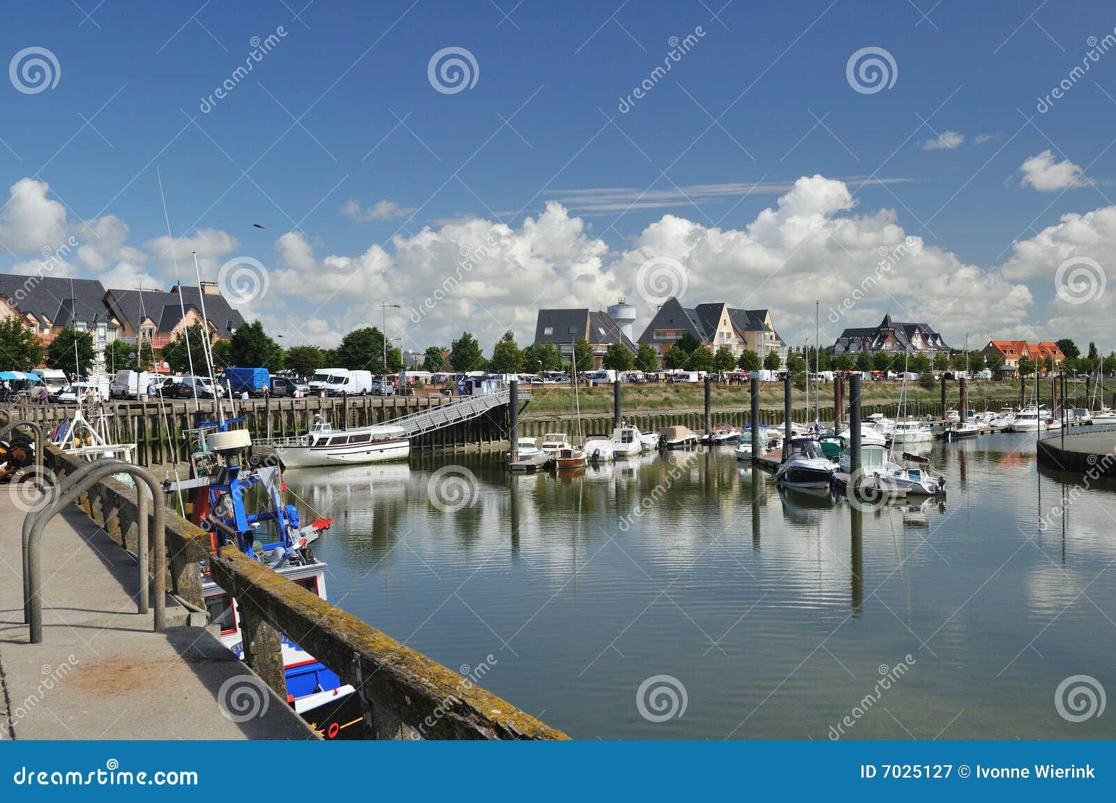 Little harbor in Normandy