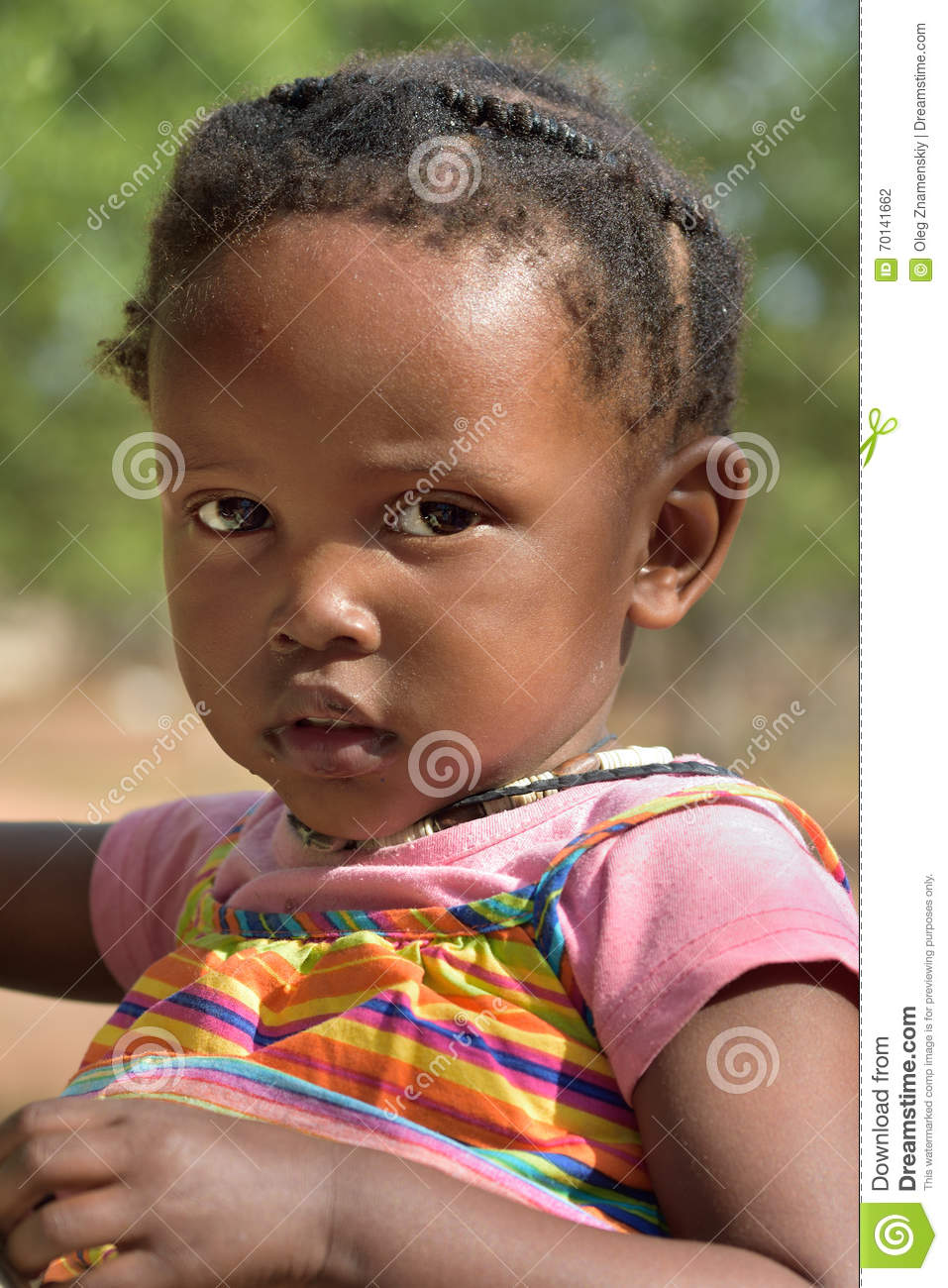 Kamanjab Namibia  city images : KAMANJAB, NAMIBIA FEB 1, 2016: Little unidentified Himba girl in ...