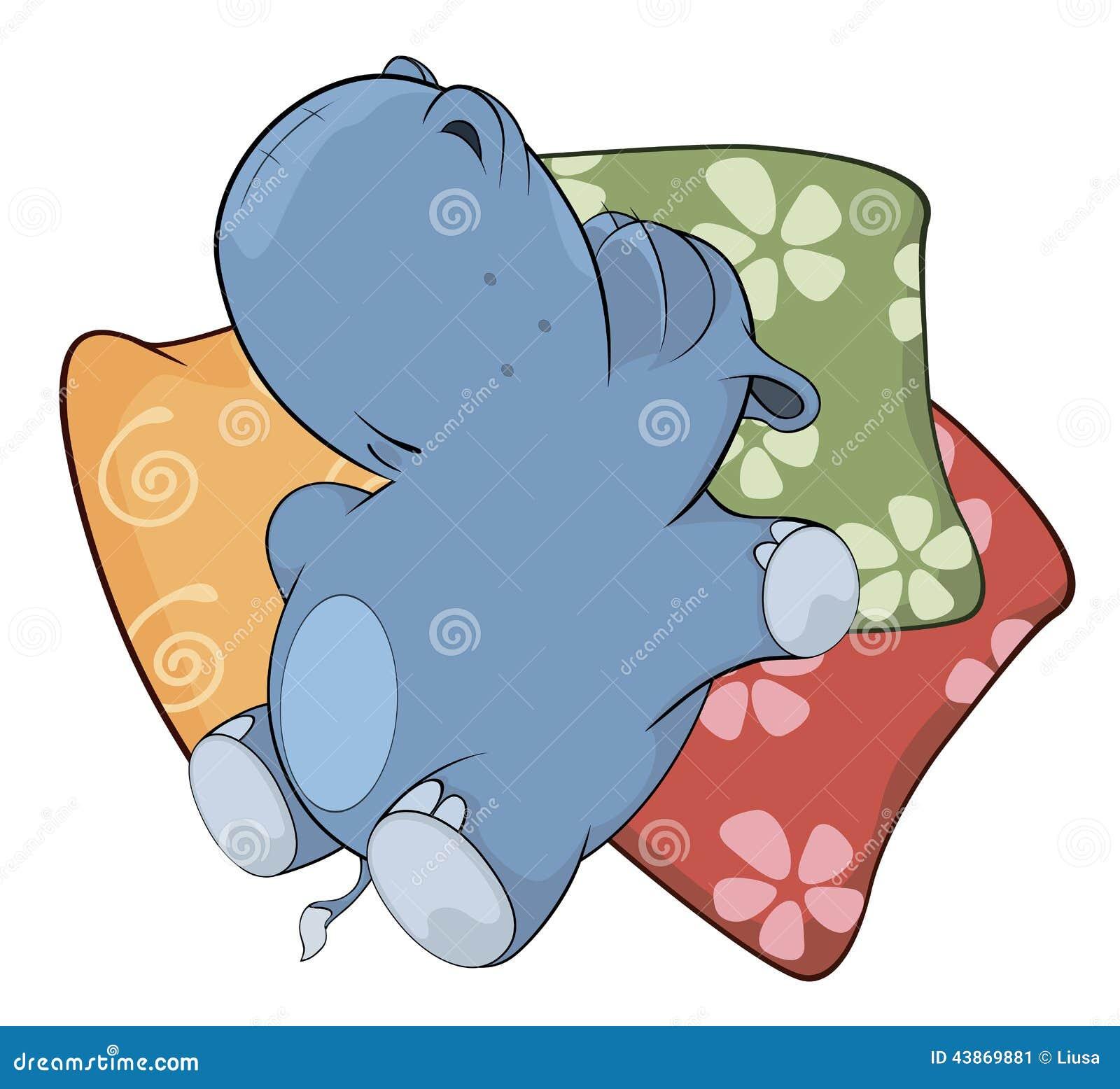 Little Hippopotamus Cartoon Stock Vector Image 43869881