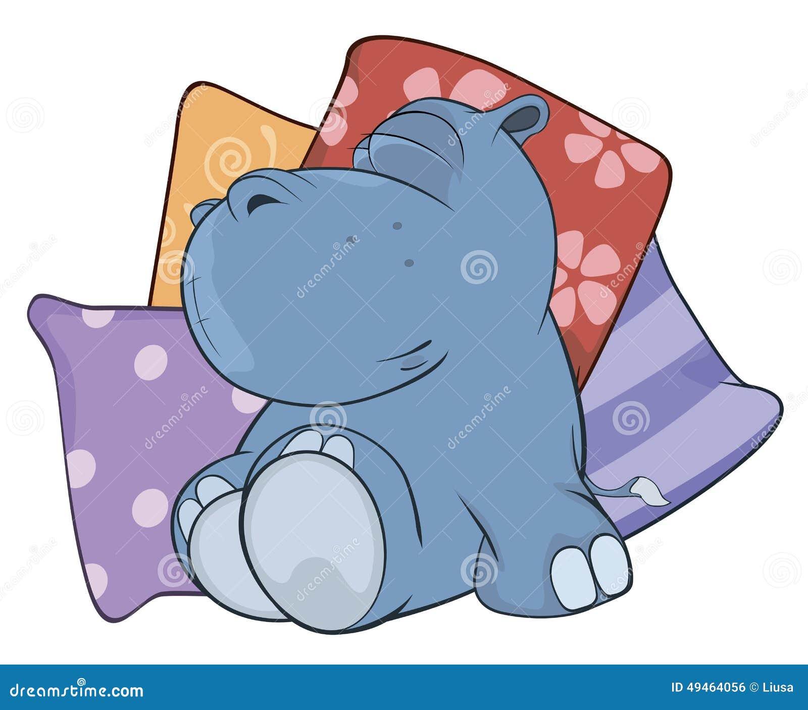 Little Hippopotamus Cartoon Stock Vector Image 49464056