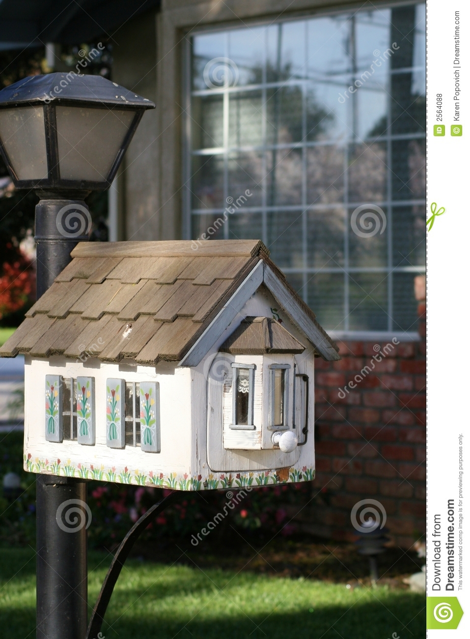 Little House Mailbox Stock Photo Image Of Mailbox Little