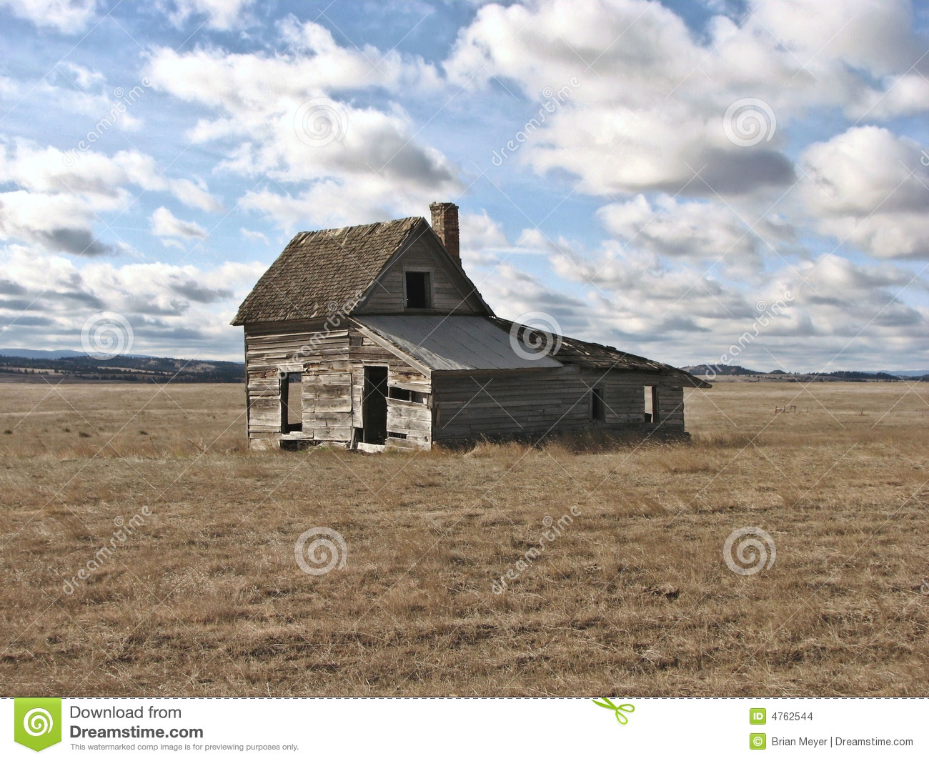 Little House On The Prairie Stock Photo - Image of clouds