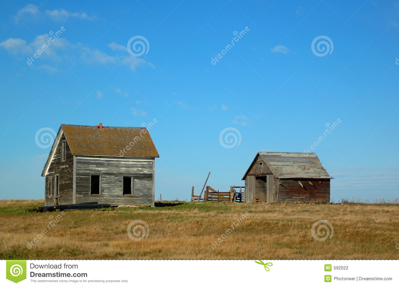 Little House On The Prairie Stock Photography Image 592022