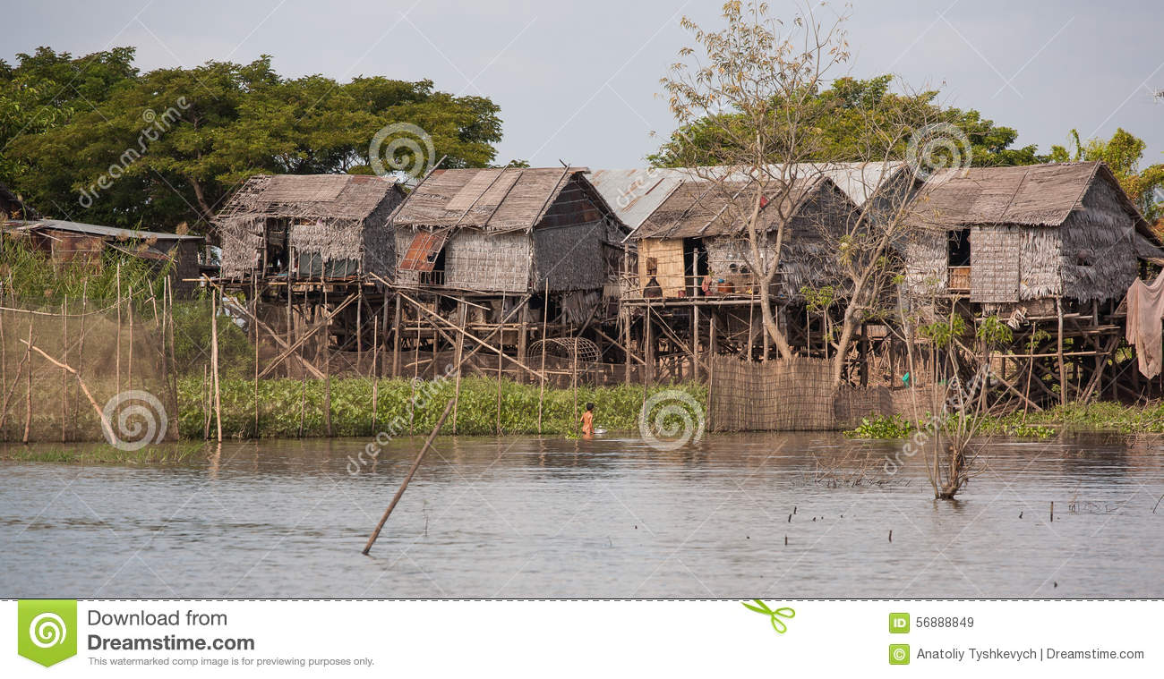 Little House on the water, a child fishing with an iron bowl