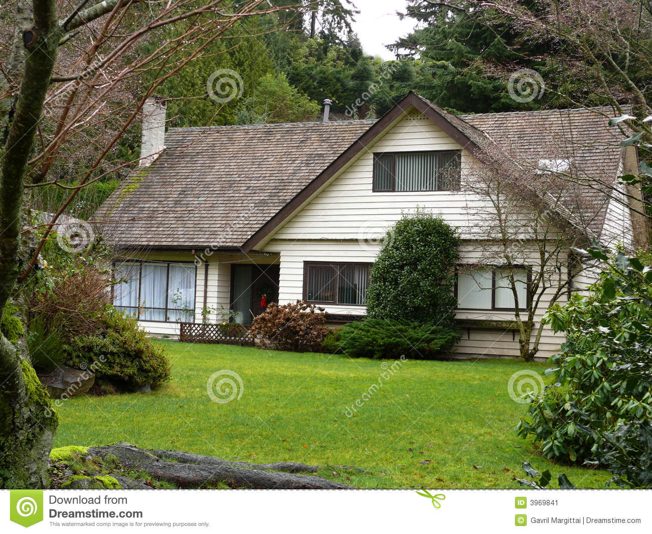 Little House In The Woods Stock Image Image 3969841