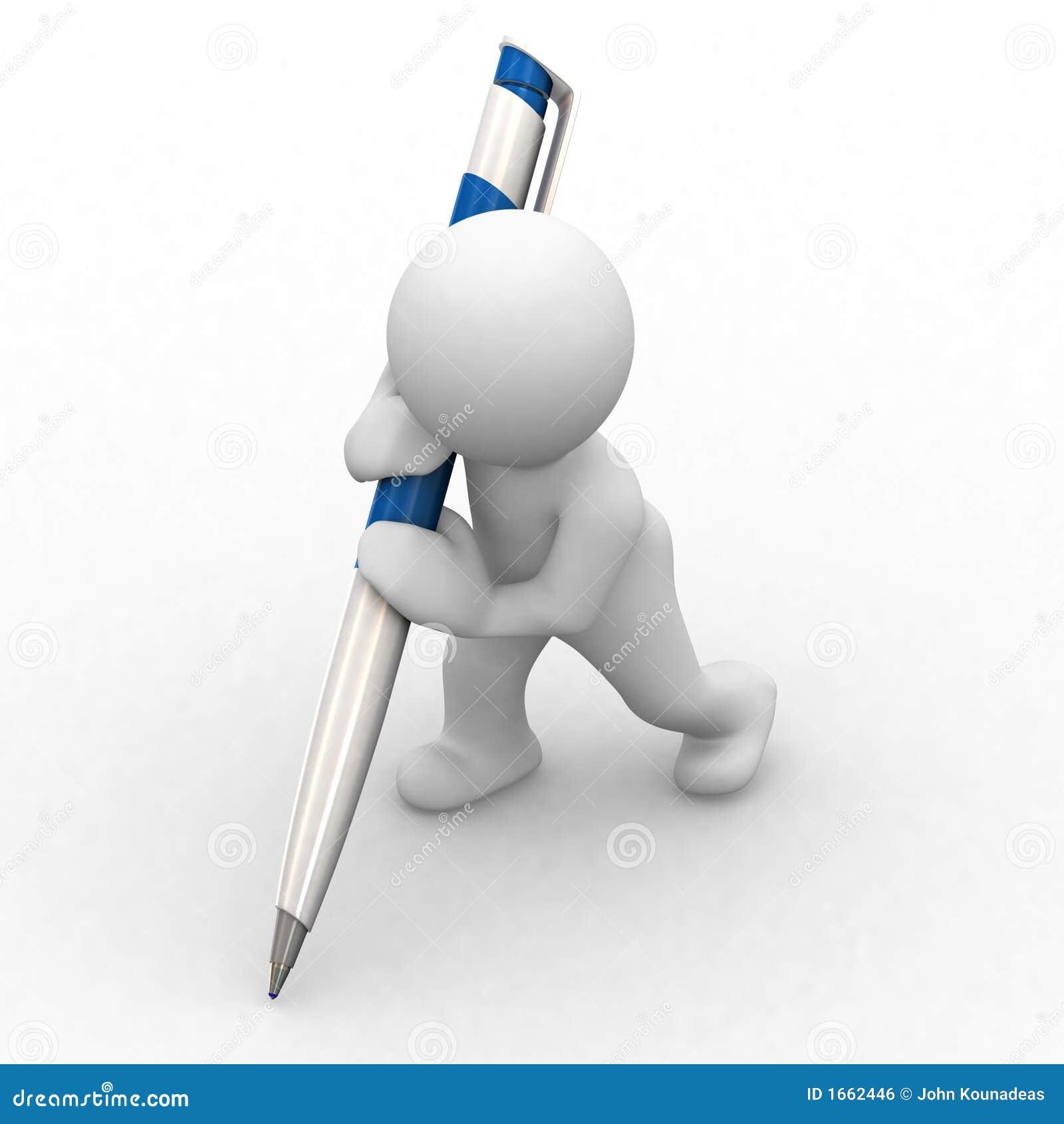 Little human big pen