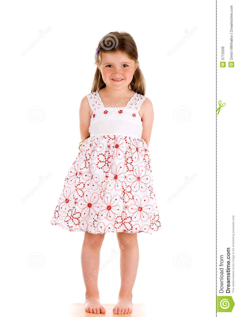 Little Innocent Girl Standing Stock Photo - Image Of Cute, Beauty 5715506-6285