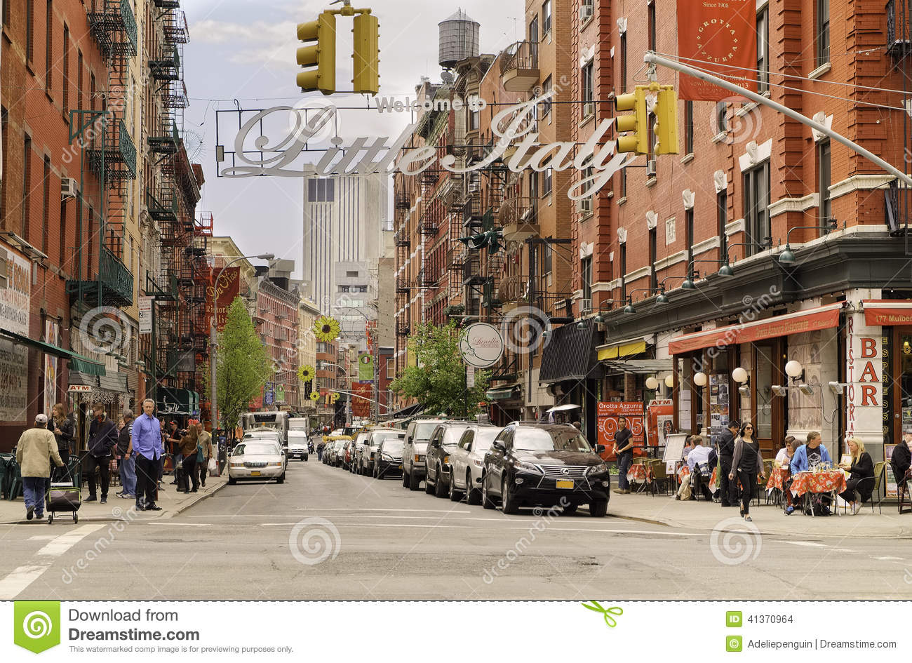 Little Italy, Manhattan, New York City Editorial Stock Image - Image ...