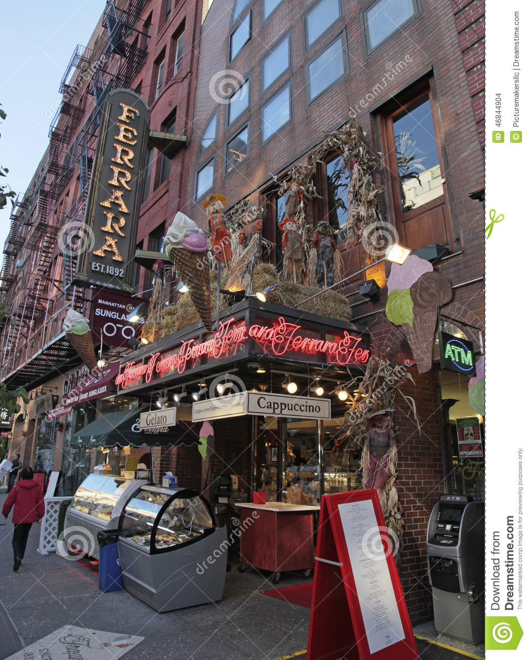 Little Italy, Mulberry St., New York City Editorial Stock Image - Image of  tourist, york: 46844904