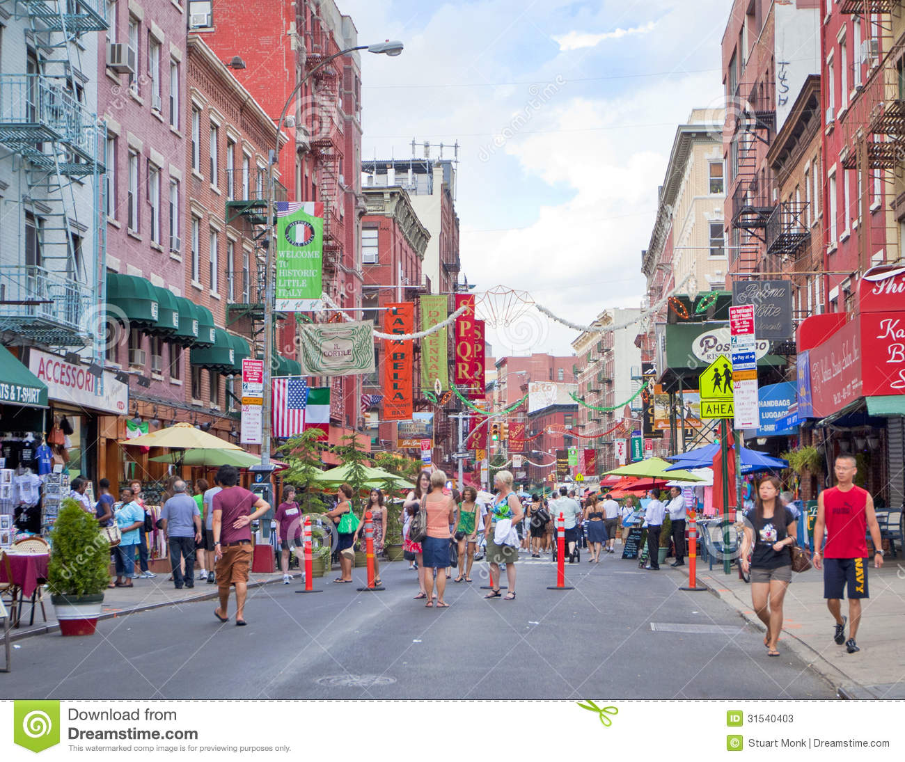 Little italy editorial stock photo image of buildings for Events going on in new york city