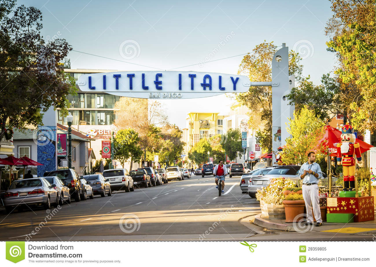 Little Italy, San Diego, California Editorial Image ...